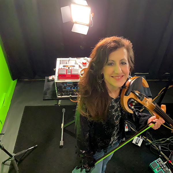 caryn in the virtual studio